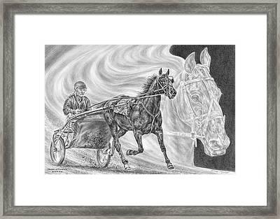 Dreams Of Greatness - Harness Racing Art Print Framed Print by Kelli Swan