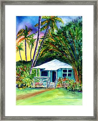 Framed Print featuring the painting Dreams Of Kauai 2 by Marionette Taboniar