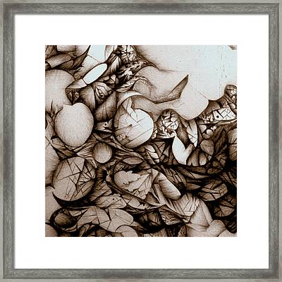 Framed Print featuring the drawing Dreams Of Long Ago by Jack Dillhunt