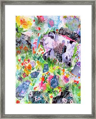 Framed Print featuring the mixed media Dreams Of Love And Other Fateful Encounters by Beth Saffer