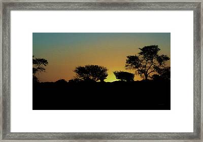 Dreams Of Namibian Sunsets Framed Print by Ernie Echols