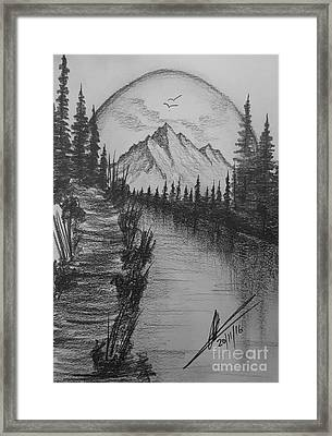 Dreams Of Paradise Framed Print by Collin A Clarke