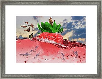 Dreams Of The Future Framed Print by Surreal Photomanipulation