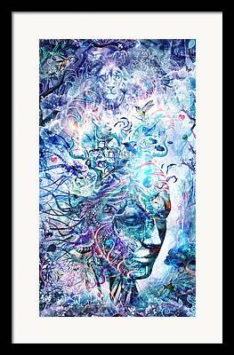Visionary Artist Digital Art Framed Prints