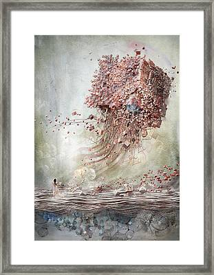 Framed Print featuring the digital art Dreamscape Flow No.1 by Te Hu