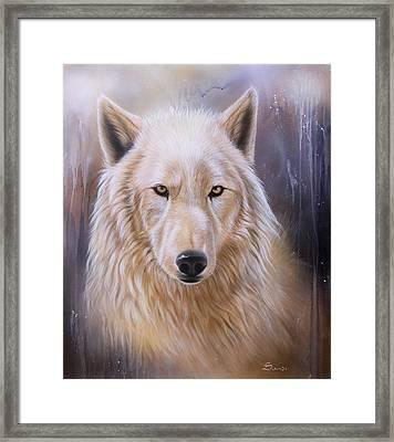 Dreamscape Wolf IIi Framed Print by Sandi Baker