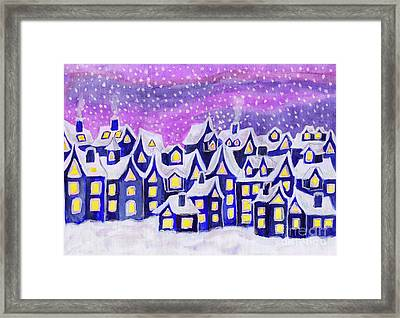 Dreamstown Blue, Painting Framed Print