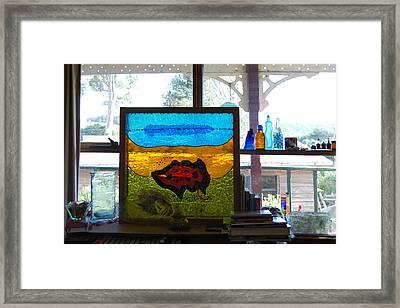 Dreamtime Barramundi Framed Print by Sarah King