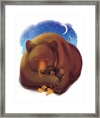 Dreamtime Bears Framed Print