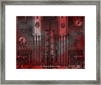 Dreamtime Of The Mechanism Framed Print by Mandi Blais