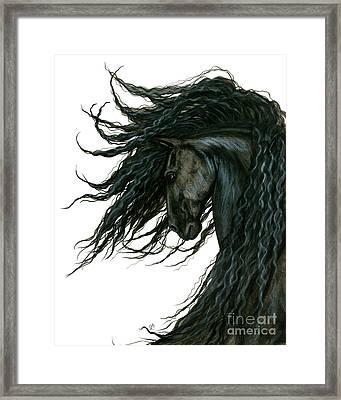 Dreamwalker Friesian Horse Framed Print