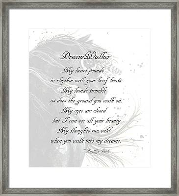 Dreamwalker Poem Framed Print
