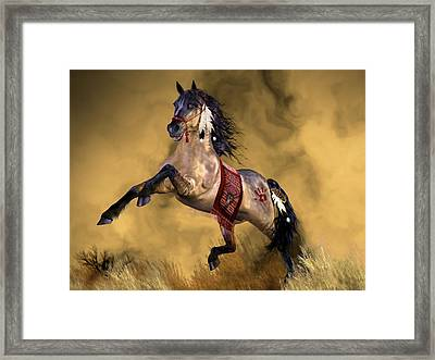 Framed Print featuring the painting Dreamweaver by Valerie Anne Kelly