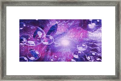 Framed Print featuring the digital art Flower Fractals  by Fine Art By Andrew David
