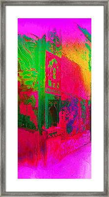 Dreamy Arches Pink Abstract Mural Sun Fort Rajasthan India 2a Framed Print