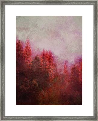 Framed Print featuring the digital art Dreamy Autumn Forest by Klara Acel