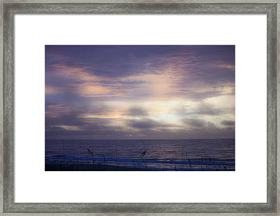 Dreamy Blue Atlantic Sunrise Framed Print by Teresa Mucha