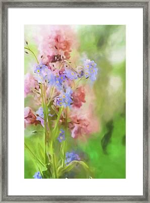 Dreamy Bouquet Framed Print by Bonnie Bruno