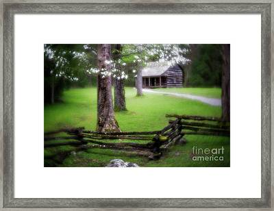 Dreamy Cabin Framed Print by Todd Bielby