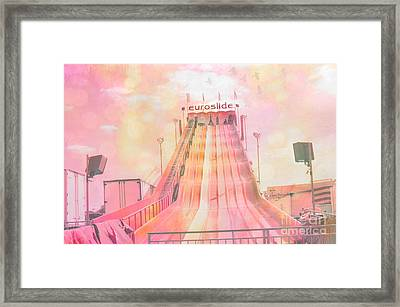 Dreamy Carnival Rides Festival Art - Euroslide Framed Print by Kathy Fornal