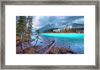 Dreamy Chateau Lake Louise Framed Print