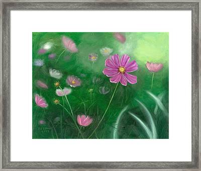 Cosmos Flowers Framed Print