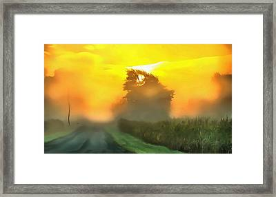 Dreamy Country Morning Framed Print by Dan Sproul