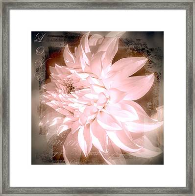 Dreamy Dahlia  Framed Print by Julie Palencia