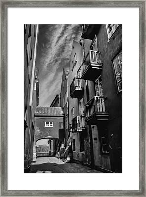 Dreamy Dawna Street Warsaw Framed Print