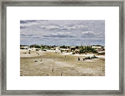 Dreamy Dunes Framed Print by Roberta Byram