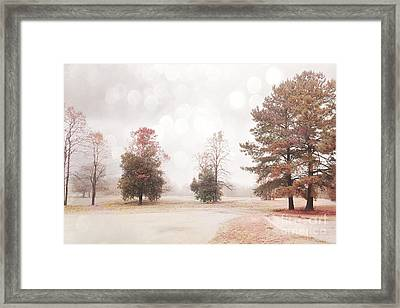 Dreamy Ethereal Serene Peaceful Nature Trees Landscape Framed Print by Kathy Fornal