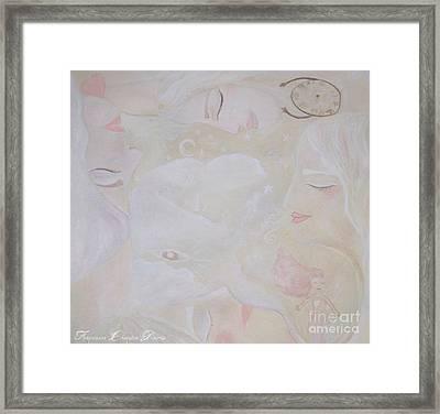 Dreamy Goddess Framed Print by Sacred  Muse