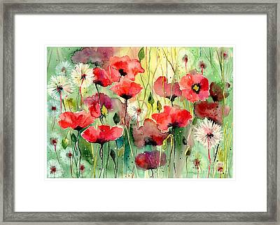 Dreamy Hot Summer Fields Framed Print