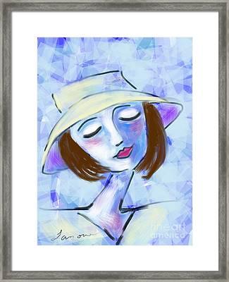 Dreamy Jeanne Framed Print by Elaine Lanoue