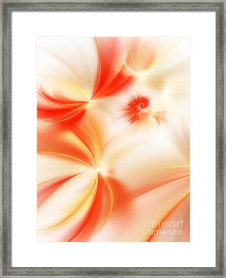 Dreamy Orange And Creamy Abstract Framed Print by Andee Design