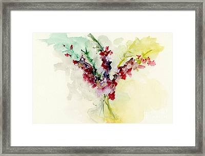 Dreamy Orchid Bouquet Framed Print