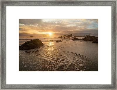 Dreamy Oregon Sunset Framed Print