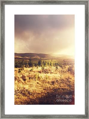 Dreamy Pastel Field Framed Print by Jorgo Photography - Wall Art Gallery