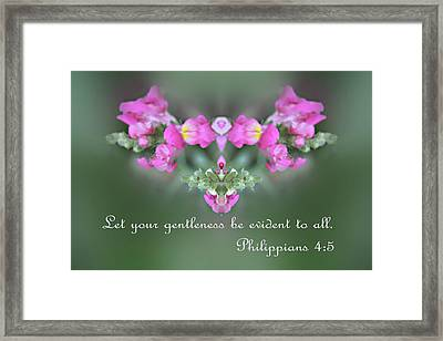 Dreamy Snap Dragon Abstract Phil 4 V 5 Framed Print by Linda Phelps