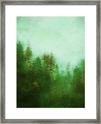 Framed Print featuring the digital art Dreamy Spring Forest by Klara Acel