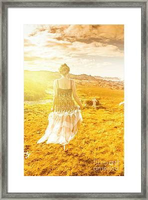 Dreamy Summer Fields Framed Print