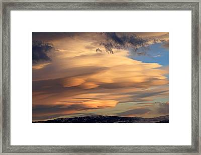 Dreamy Sunset Framed Print by Donna Kennedy