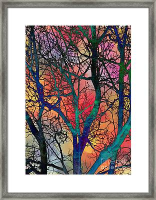 Framed Print featuring the digital art Dreamy Sunset by Klara Acel
