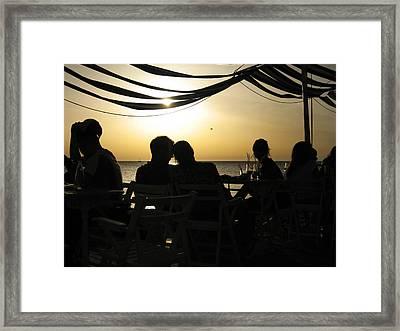 Dreamy Sunset Framed Print by Oliver Johnston
