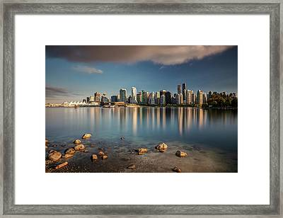 Framed Print featuring the photograph Dreamy Vancouver Cityscape by Pierre Leclerc Photography