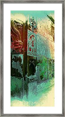Dreamy Vintage Abstract Arches Sun Fort Rajasthan India 2g Framed Print