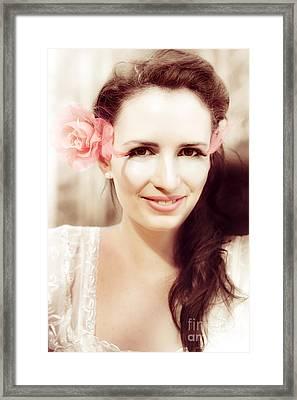 Dreamy Vintage Portrait Framed Print