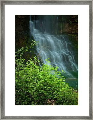 Dreamy Waterfalls Framed Print by Iris Greenwell