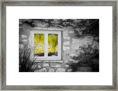 Dreamy Window Framed Print