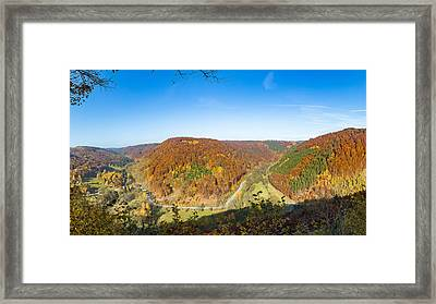 Drei-taeler-blick, Suedharz Framed Print by Andreas Levi